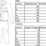 standart ukuran seragam lapangan wearpack